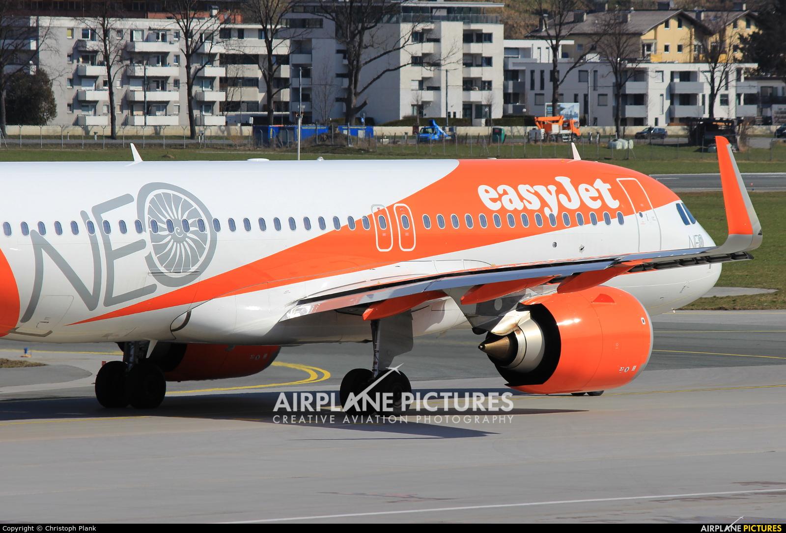 easyJet G-UZHD aircraft at Innsbruck