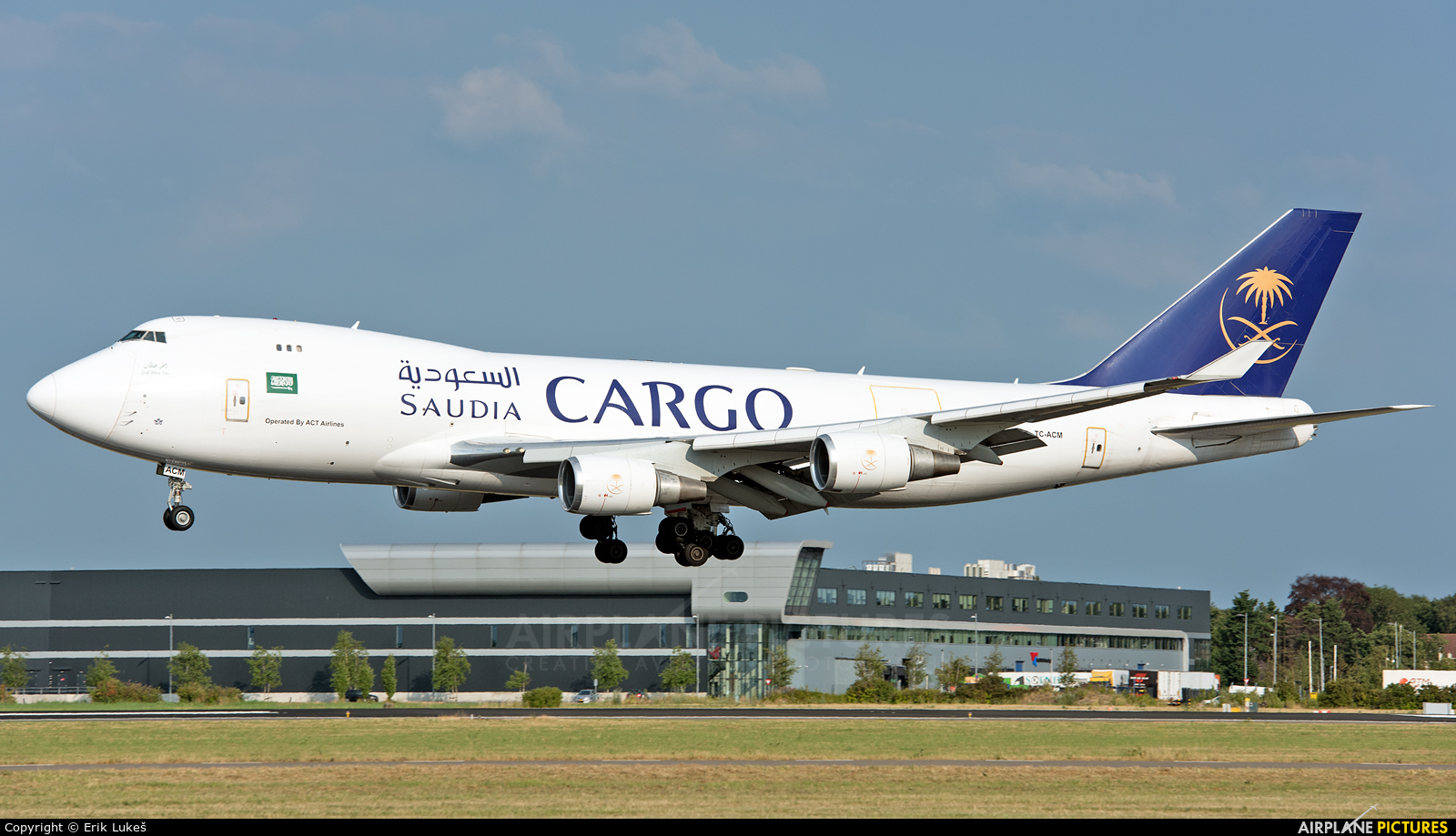 Saudi Arabian Cargo TC-ACM aircraft at Amsterdam - Schiphol