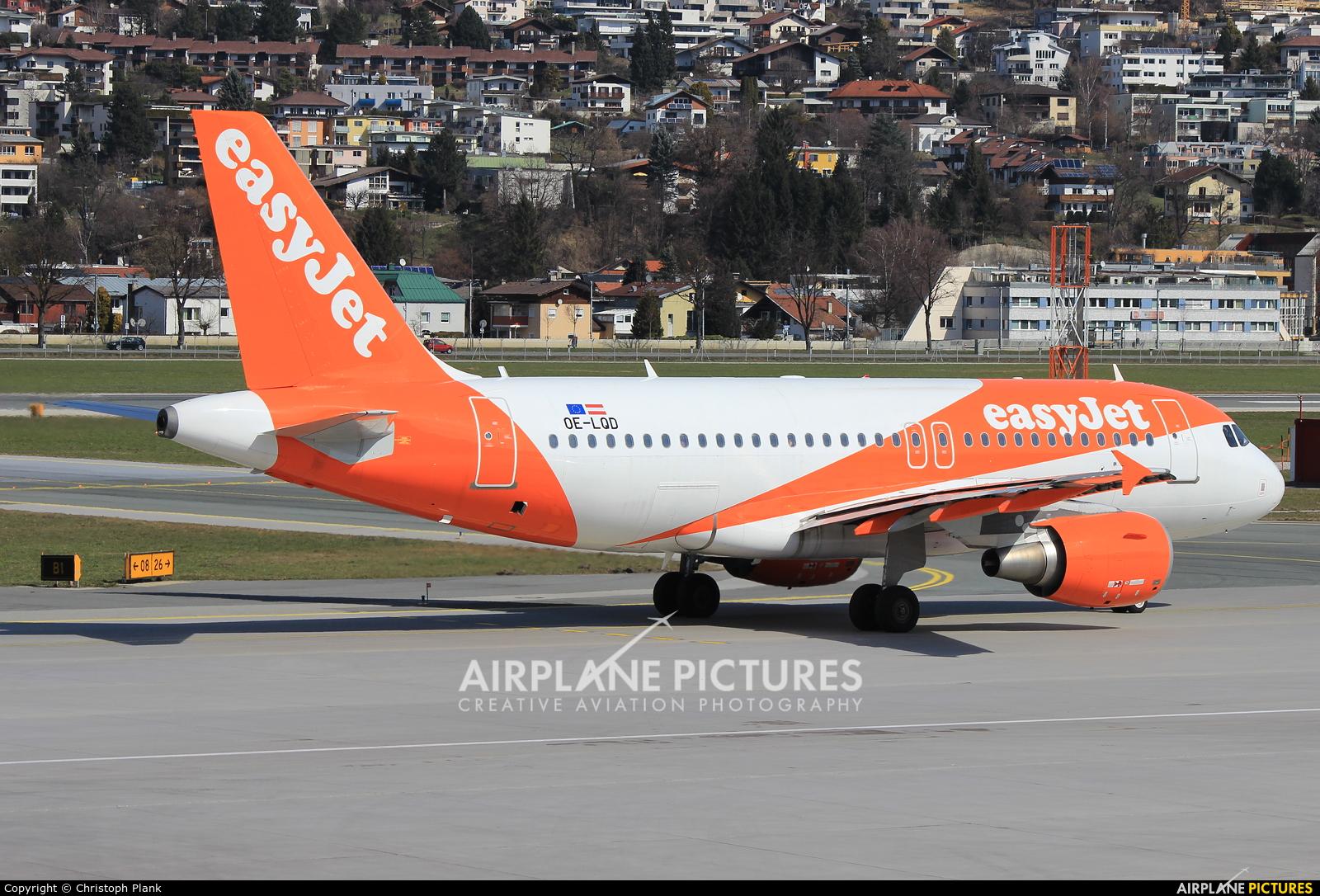 easyJet Europe OE-LQD aircraft at Innsbruck