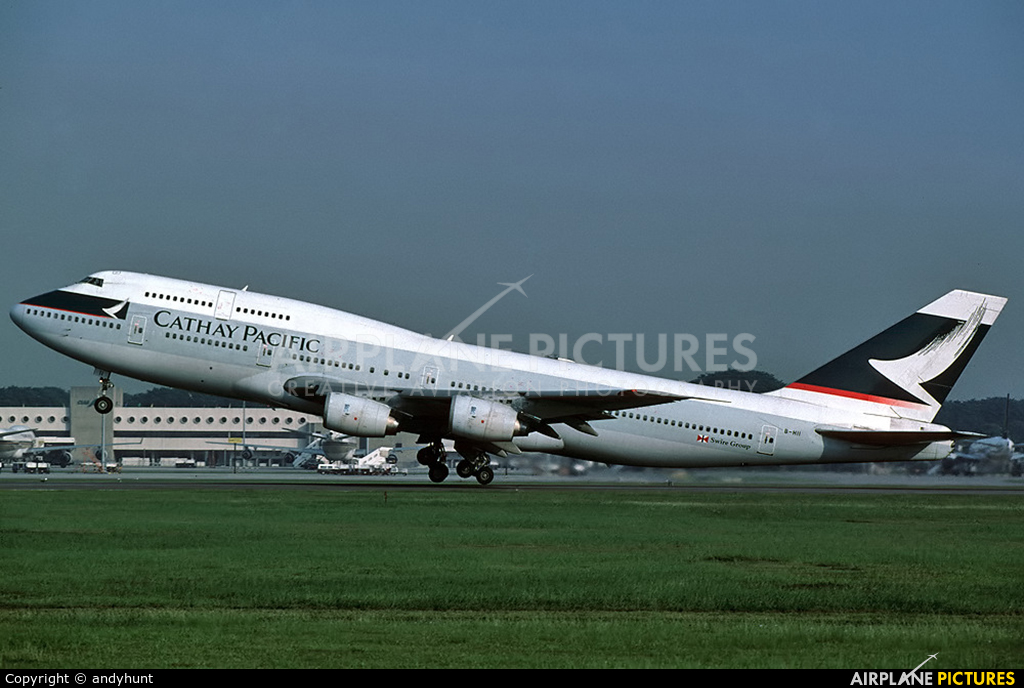 Cathay Pacific B-HII aircraft at Singapore - Changi