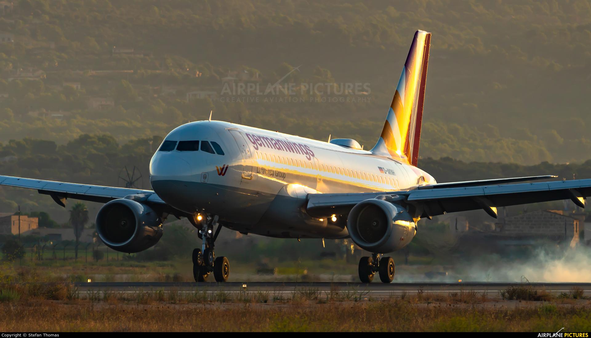 Germanwings D-AKNH aircraft at Palma de Mallorca