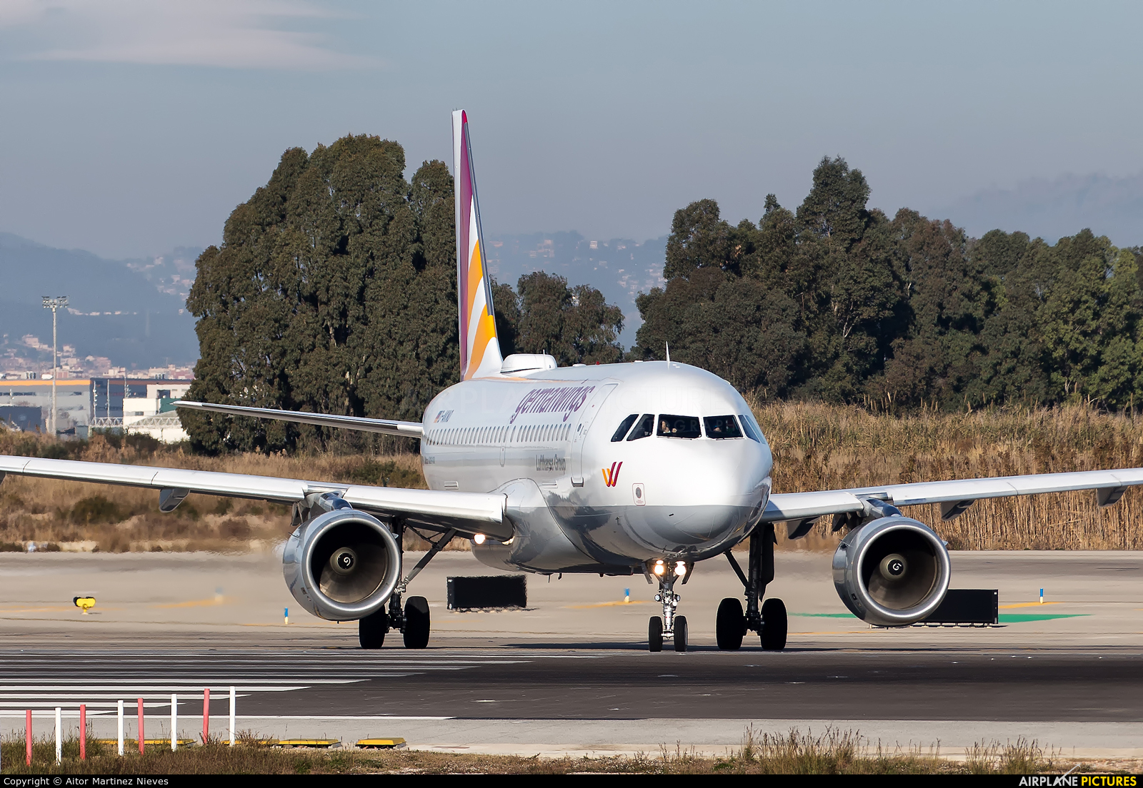 Germanwings D-AKNO aircraft at Barcelona - El Prat