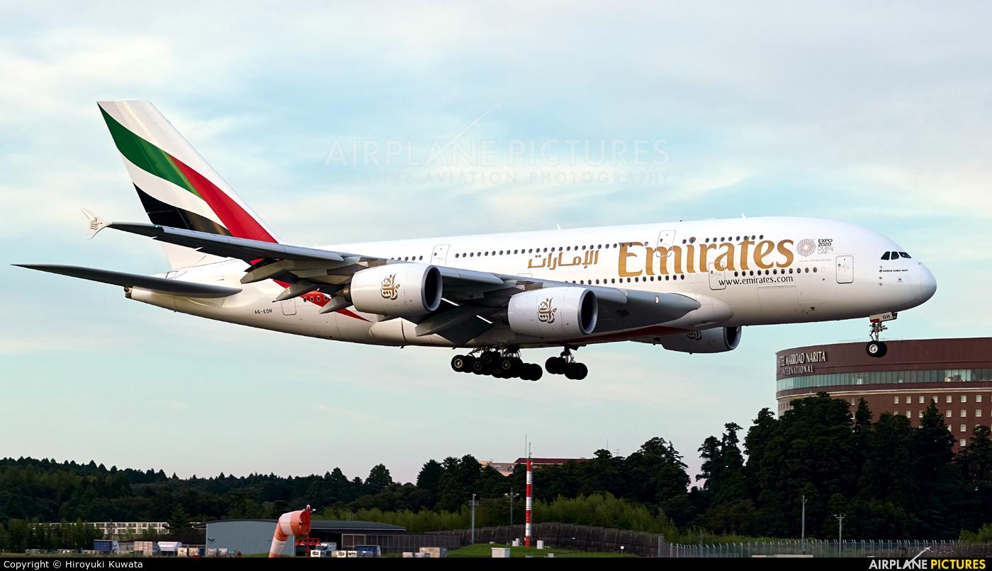 Emirates Airlines A6-EOH aircraft at Tokyo - Narita Intl