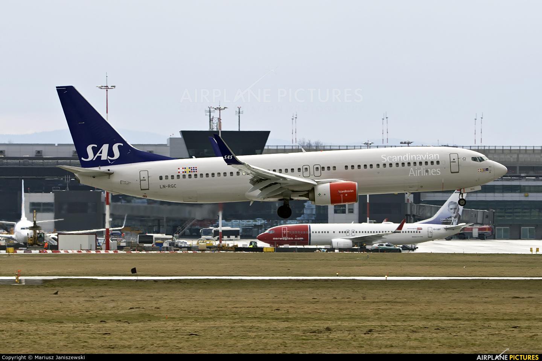 SAS - Scandinavian Airlines LN-RGC aircraft at Kraków - John Paul II Intl
