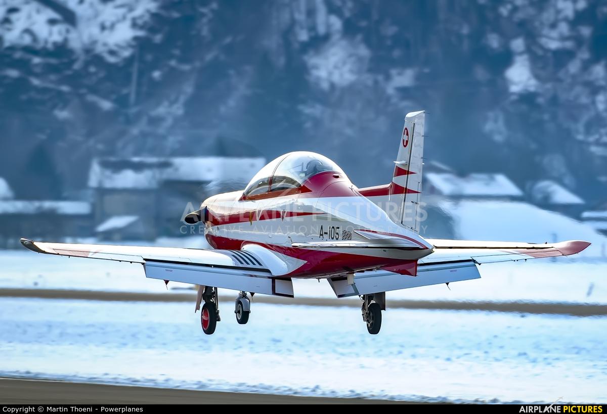 Switzerland - Air Force A-105 aircraft at Meiringen