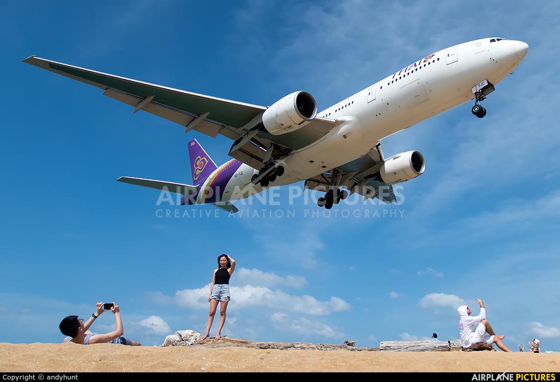 Thai Airways HS-TJC aircraft at Phuket