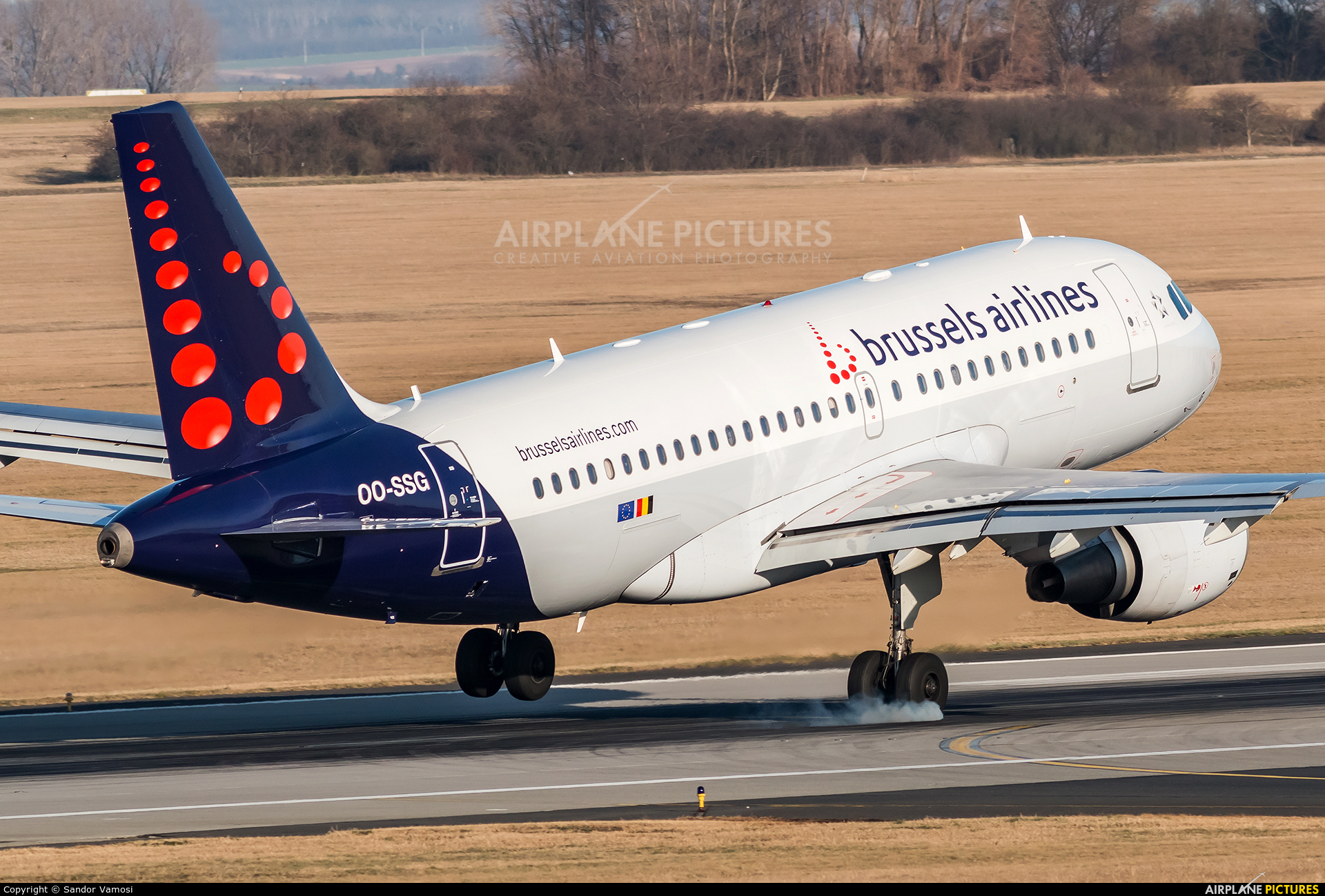 Brussels Airlines OO-SSG aircraft at Budapest Ferenc Liszt International Airport