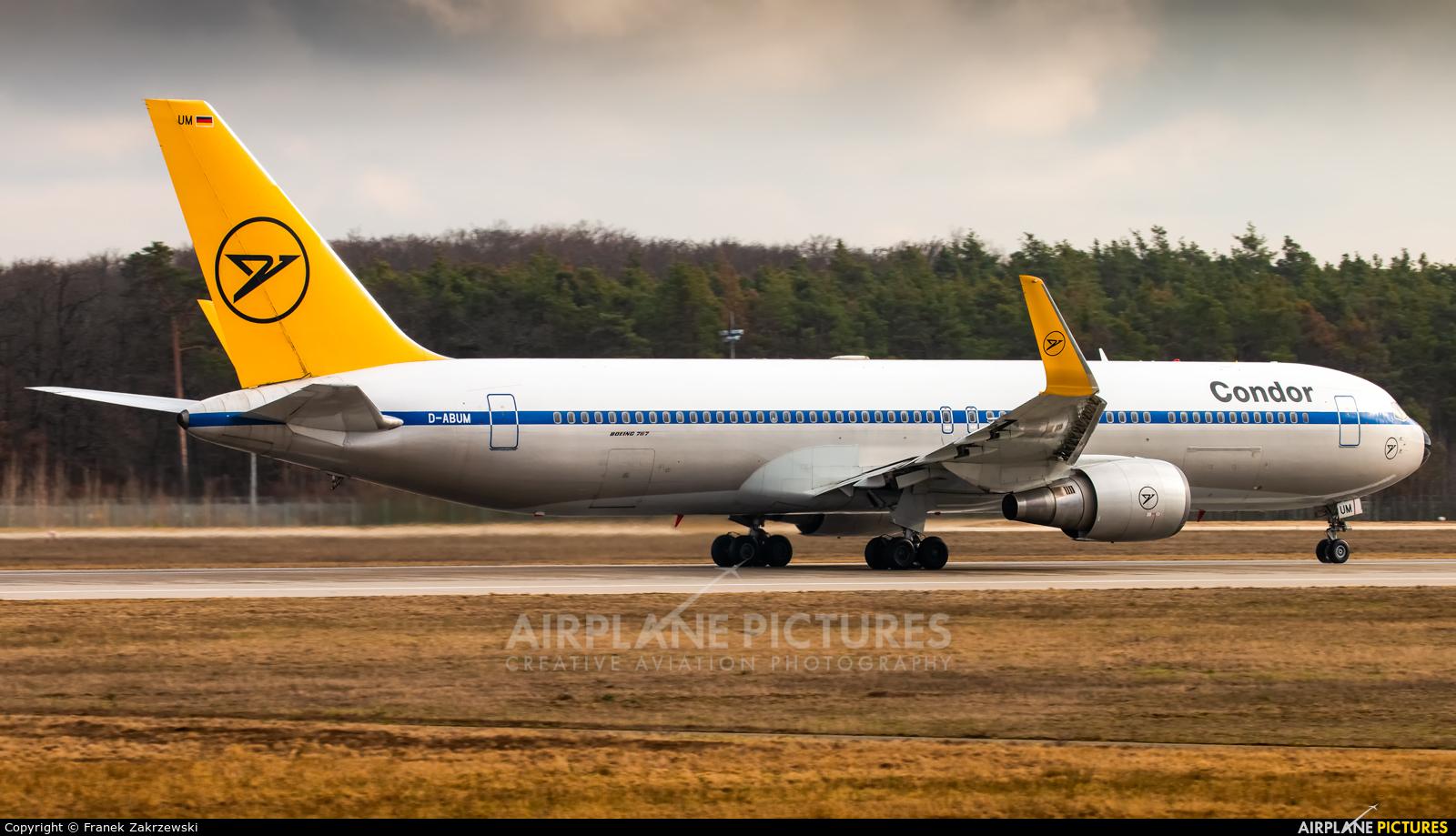 Condor D-ABUM aircraft at Frankfurt