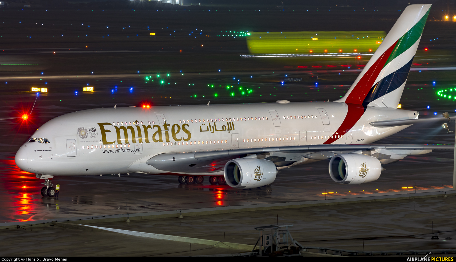 Emirates Airlines A6-EUL aircraft at Houston - George Bush Intl