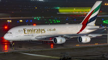 A6-EUL - Emirates Airlines Airbus A380 aircraft