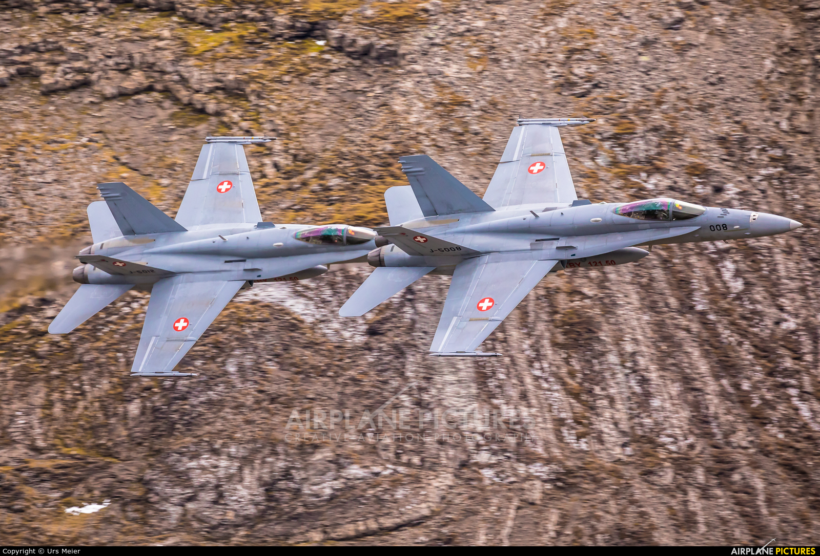 Switzerland - Air Force J-5008 aircraft at Axalp - Ebenfluh Range