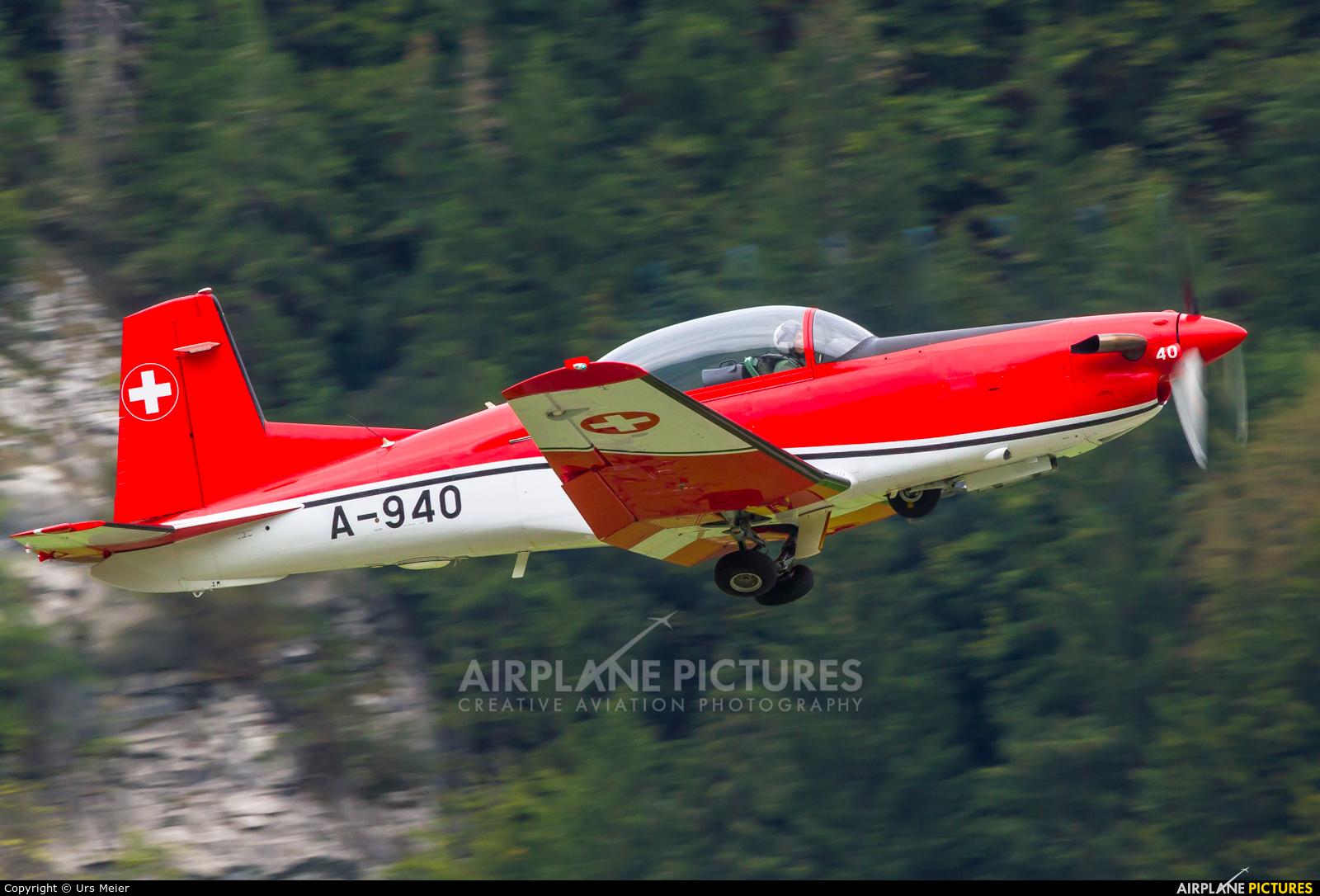 Switzerland - Air Force: PC-7 Team A-940 aircraft at Meiringen