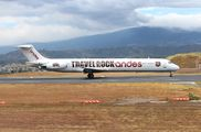 Rare visit of Andes Lineas Aereas MD83 to San Jose title=