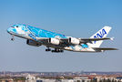 Delivery flight of first A380 for ANA