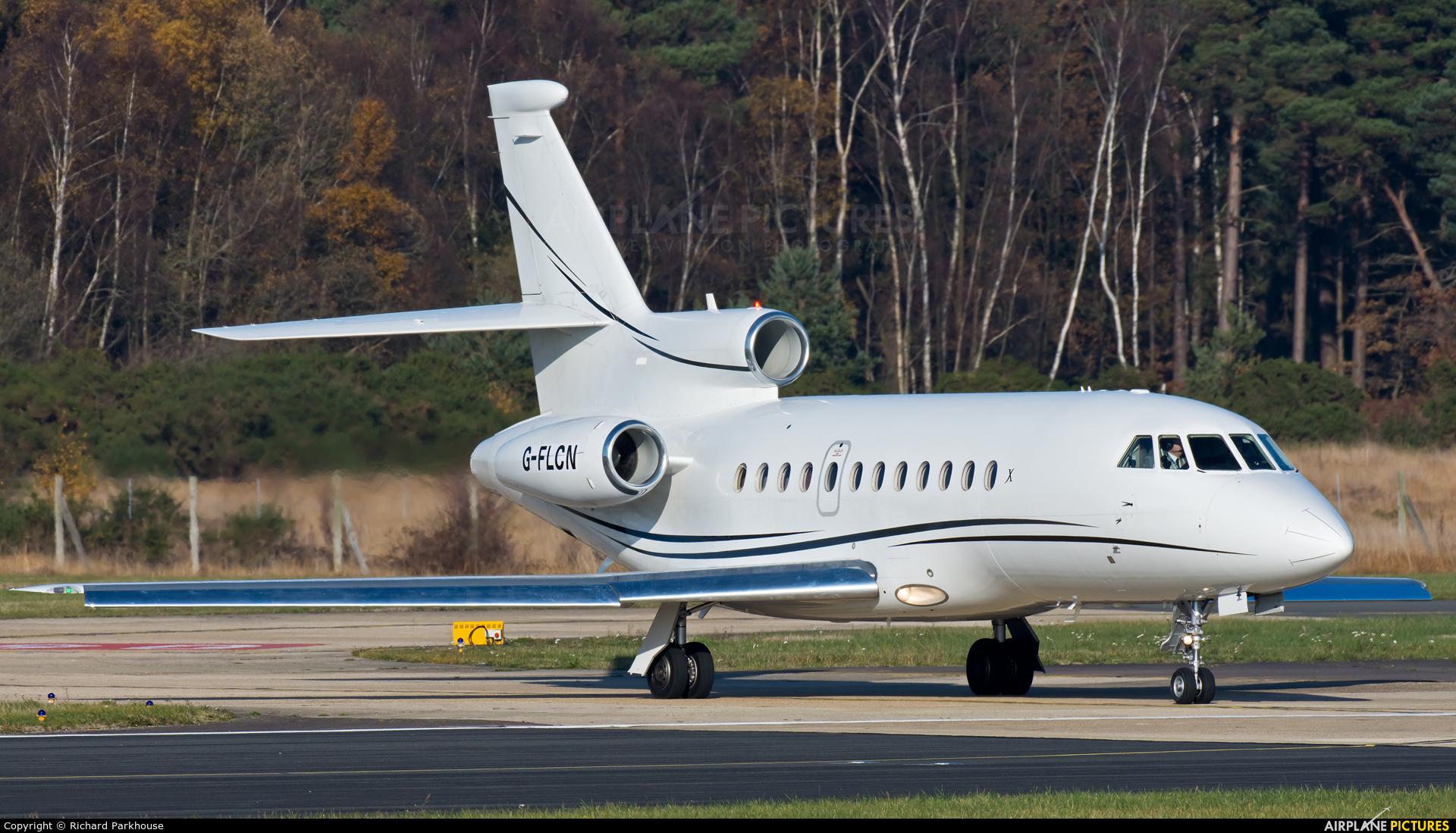 Xclusive Jet Charter G-FLCN aircraft at Farnborough