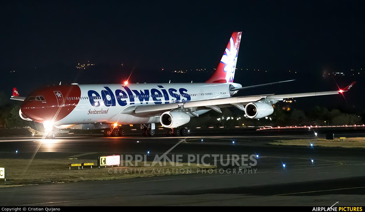 Edelweiss HB-JMF aircraft at San Jose - Juan Santamaría Intl