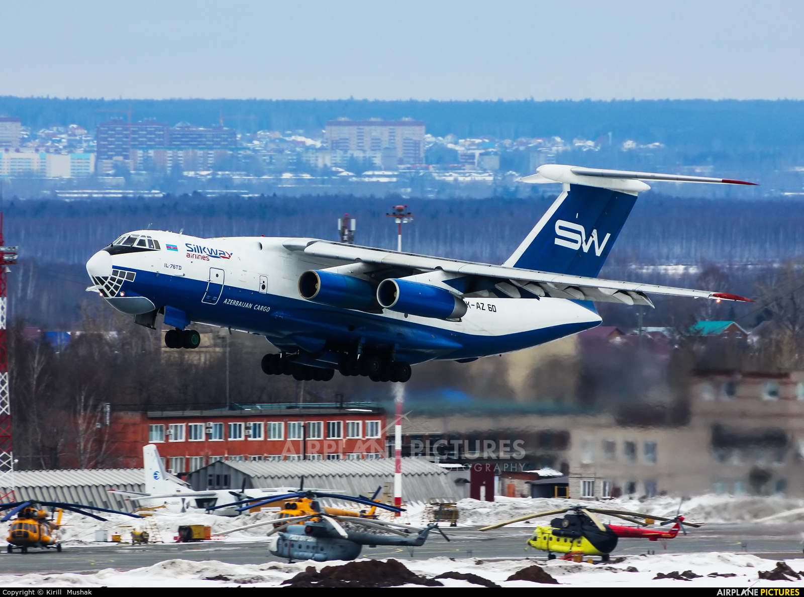 Silk Way Airlines 4K-AZ60 aircraft at Bolshoe Savino - Perm