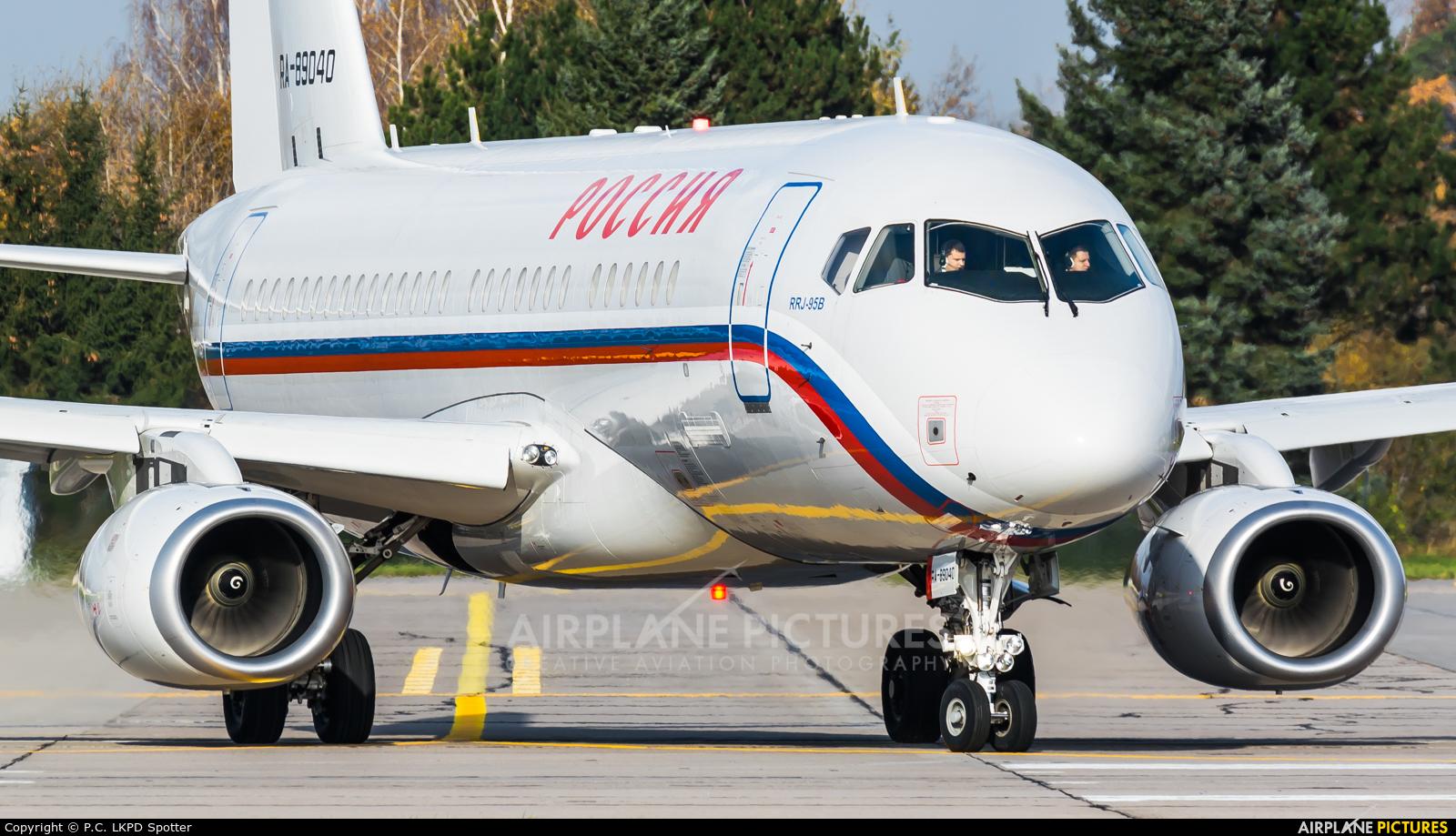 Rossiya Special Flight Detachment RA-89040 aircraft at Pardubice