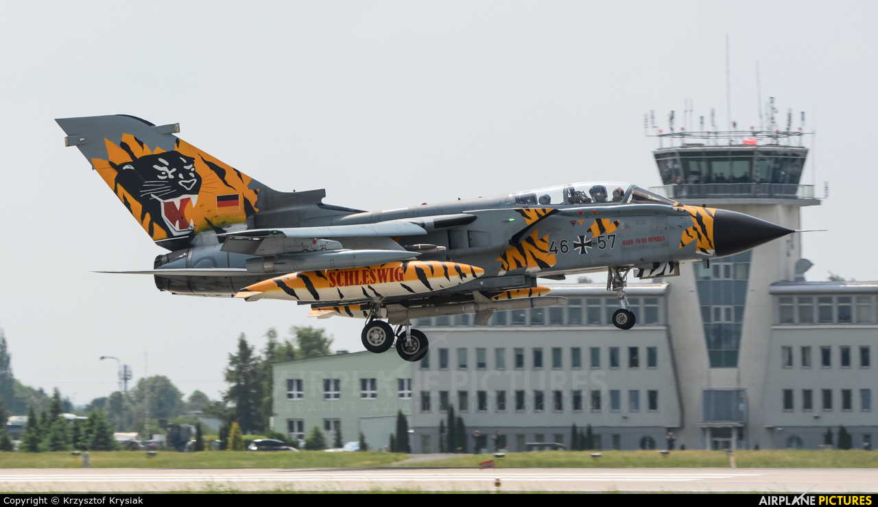 Germany - Air Force 46+57 aircraft at Poznań - Krzesiny