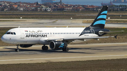 5A-ONB - Afriqiyah Airways Airbus A320