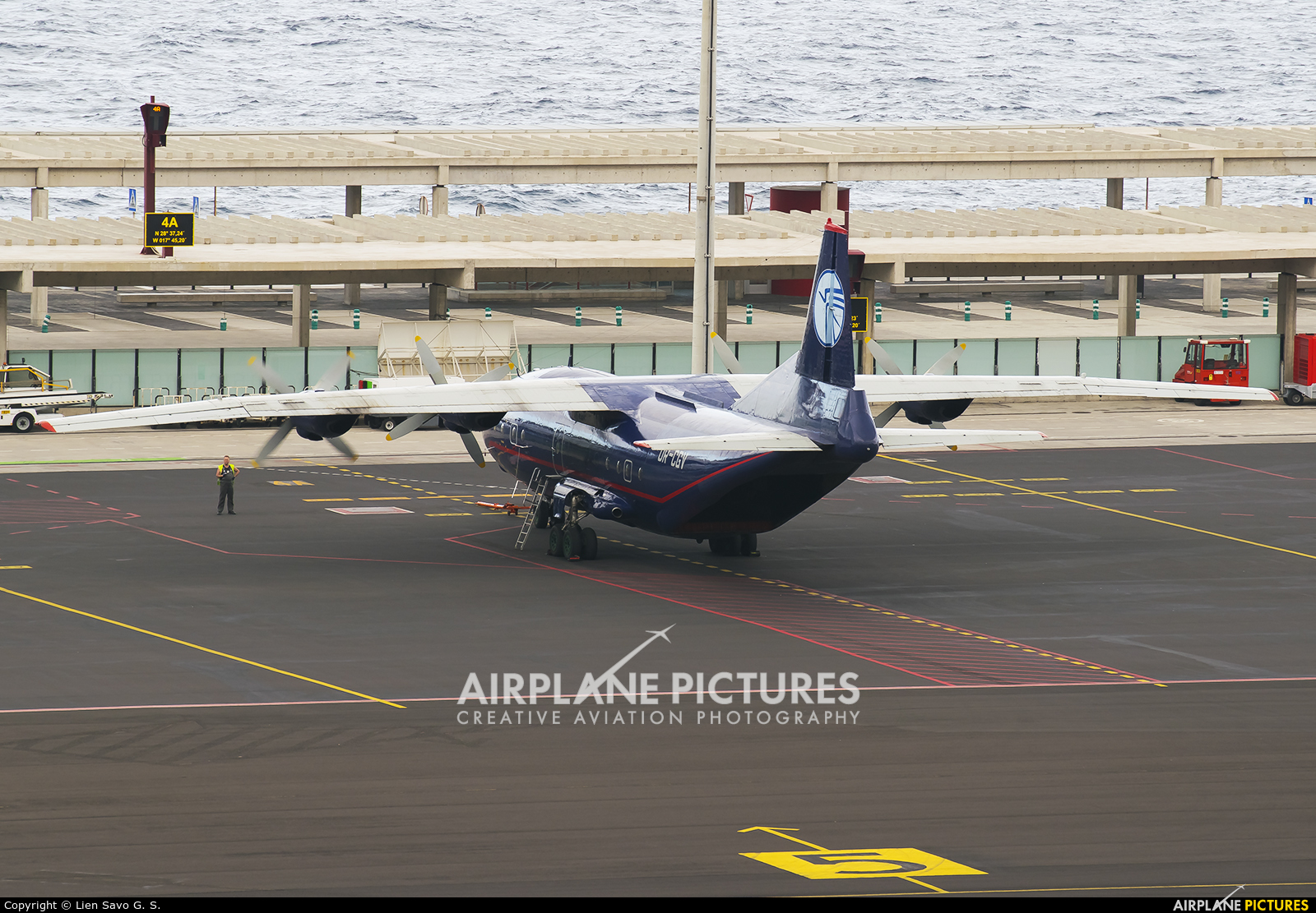 Ukraine Air Alliance UR-CGV aircraft at Santa Cruz de La Palma