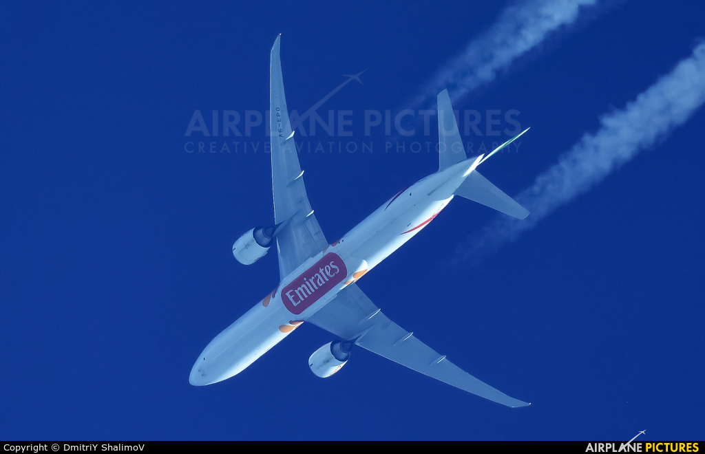 Emirates Airlines A6-EPO aircraft at In Flight - Russia