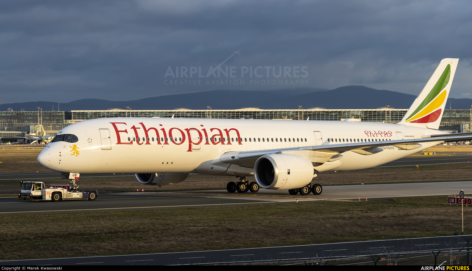Ethiopian Airlines ET-AUB aircraft at Frankfurt
