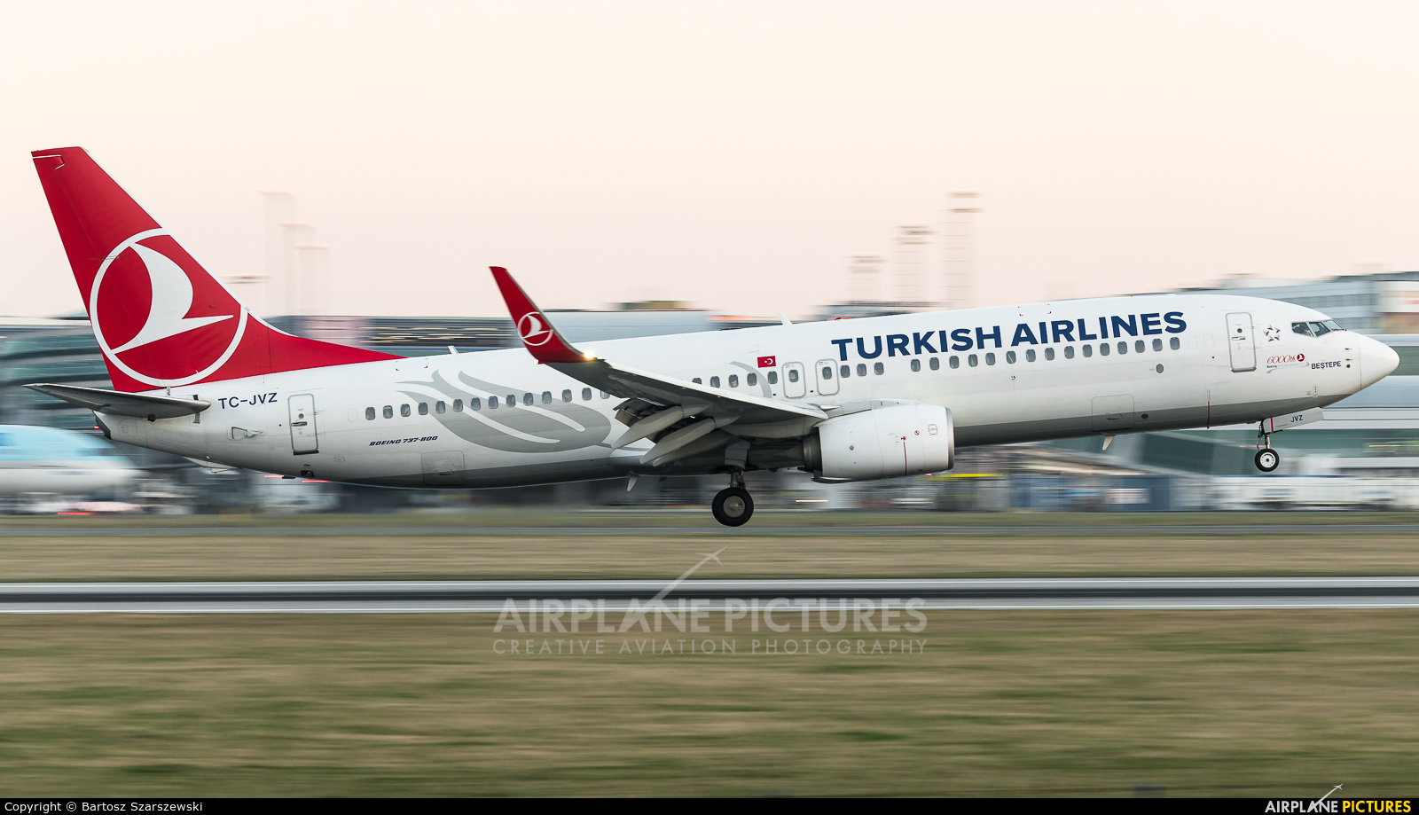 Turkish Airlines TC-JVZ aircraft at Prague - Václav Havel