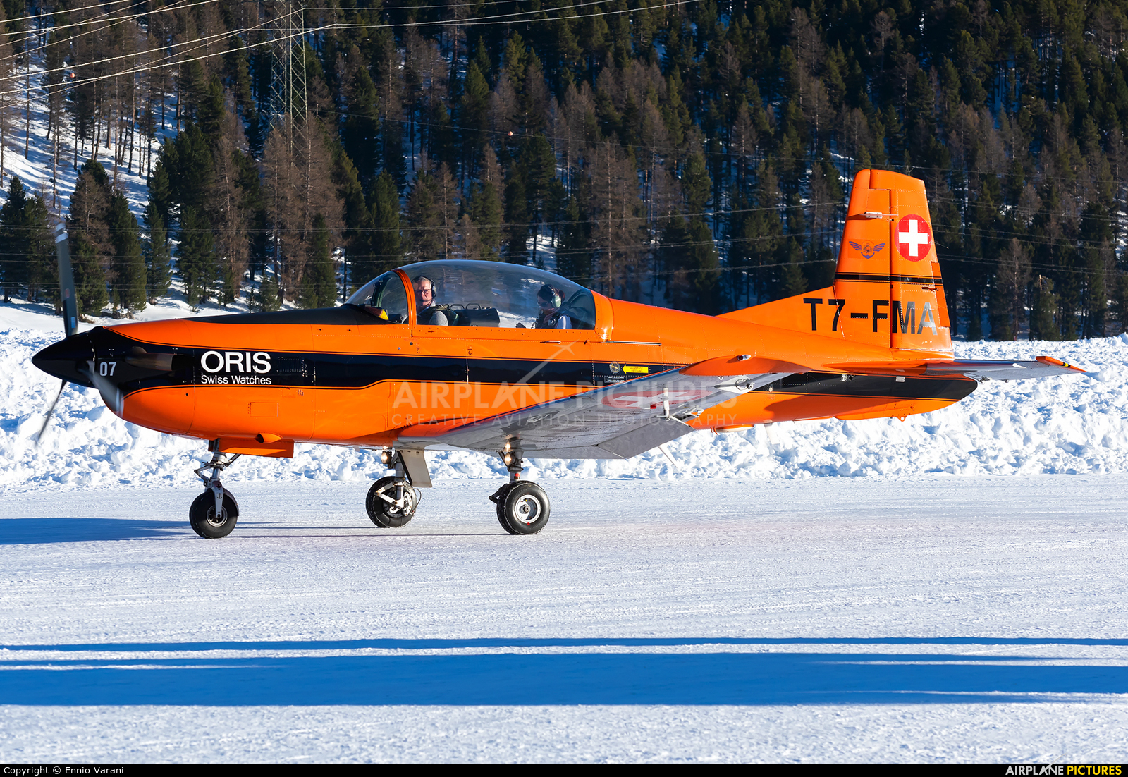 Fliegermuseum Altenrhein T7-MFA aircraft at Samedan - Engadin