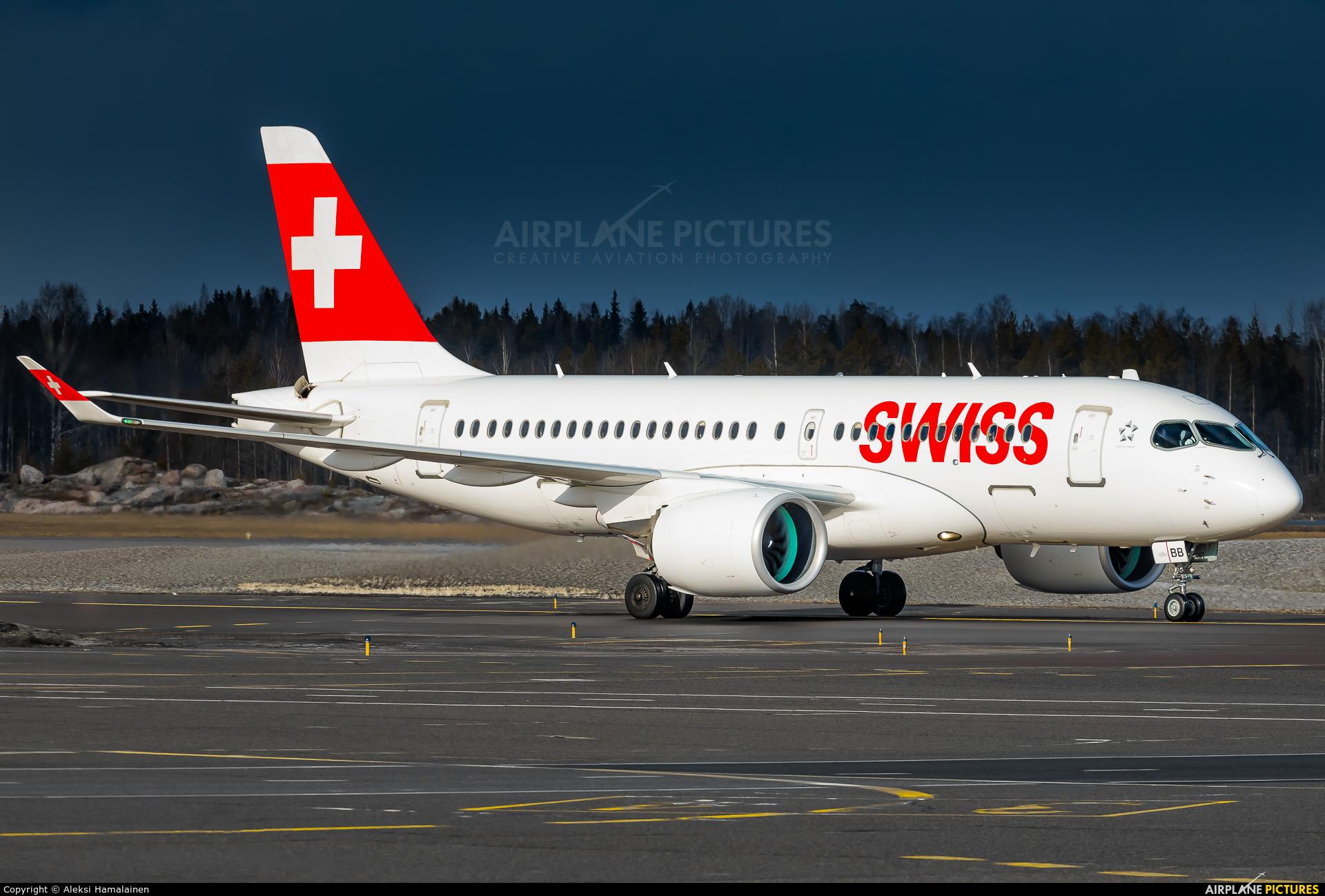 Swiss HB-JBB aircraft at Helsinki - Vantaa