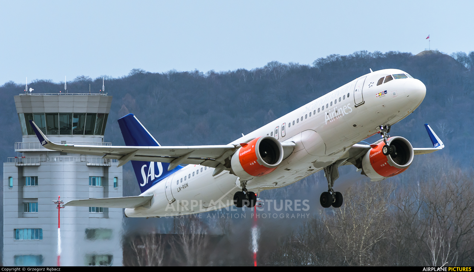 SAS - Scandinavian Airlines LN-RGN aircraft at Kraków - John Paul II Intl