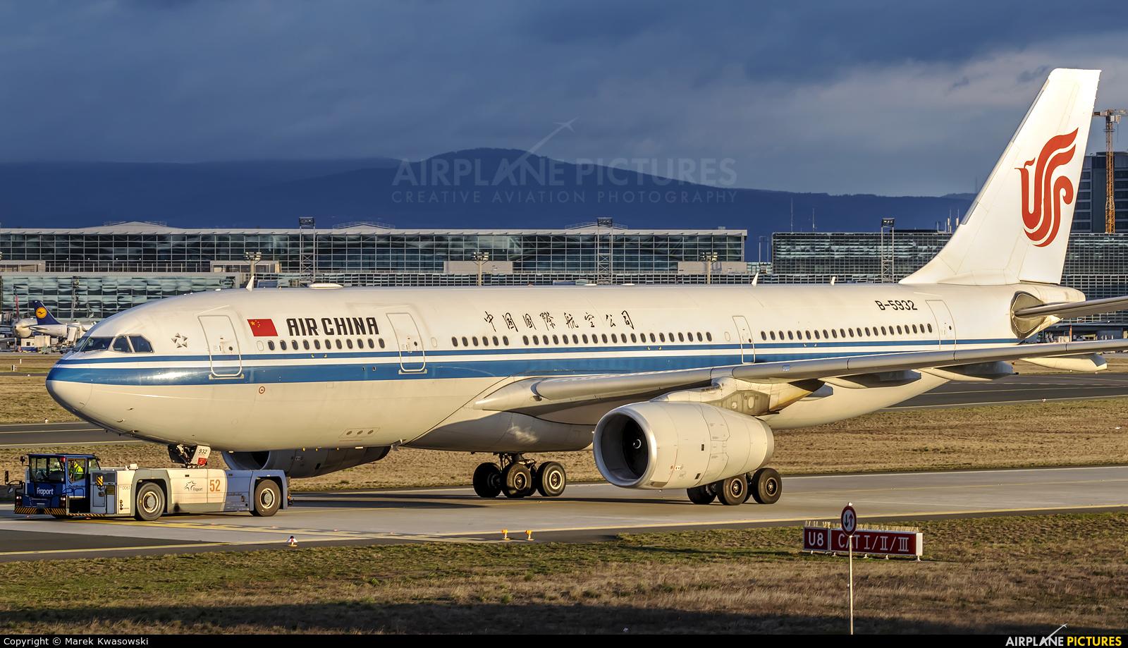 Air China B-5932 aircraft at Frankfurt
