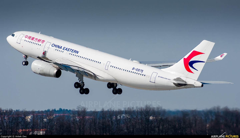 China Eastern Airlines B-5975 aircraft at Prague - Václav Havel