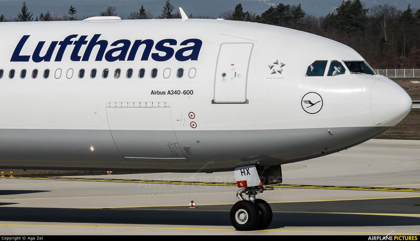 Lufthansa D-AIHX aircraft at Frankfurt