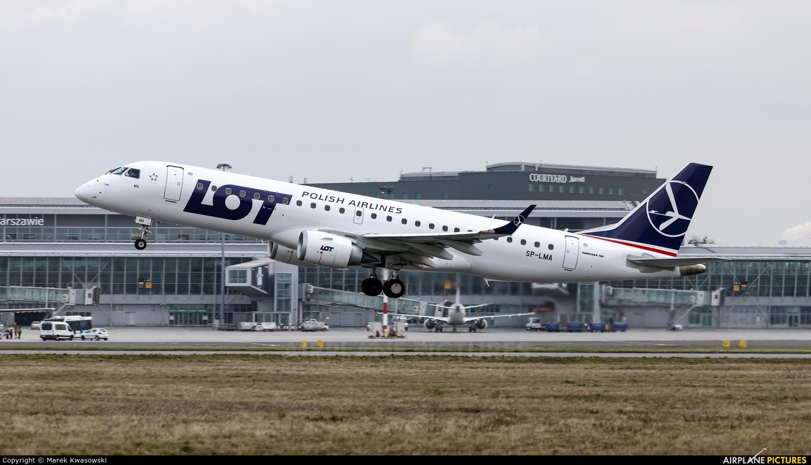 LOT - Polish Airlines SP-LMA aircraft at Warsaw - Frederic Chopin