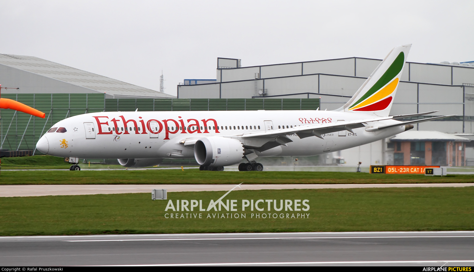 Ethiopian Airlines ET-ATL aircraft at Manchester