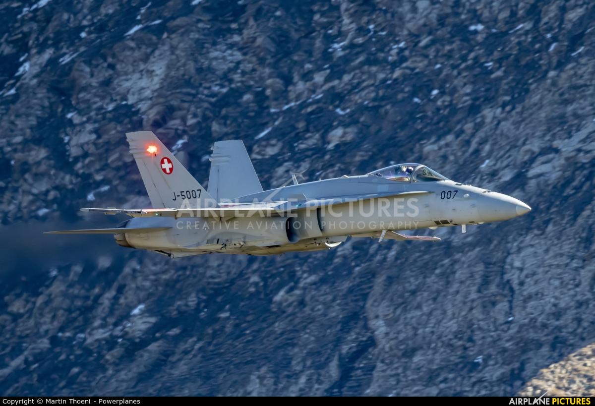 Switzerland - Air Force J-5007 aircraft at Axalp - Ebenfluh Range