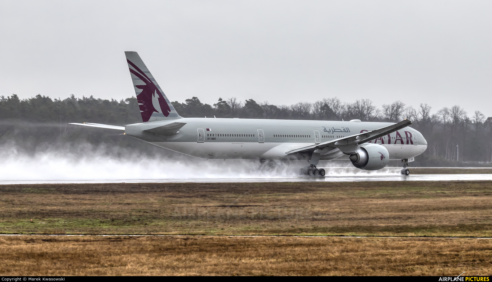 Qatar Airways A7-BEE aircraft at Frankfurt