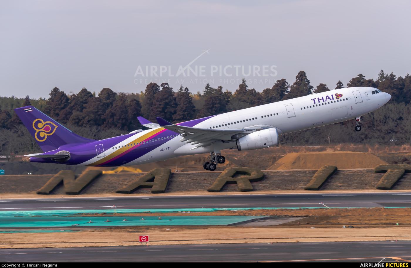 Thai Airways HS-TEP aircraft at Tokyo - Narita Intl