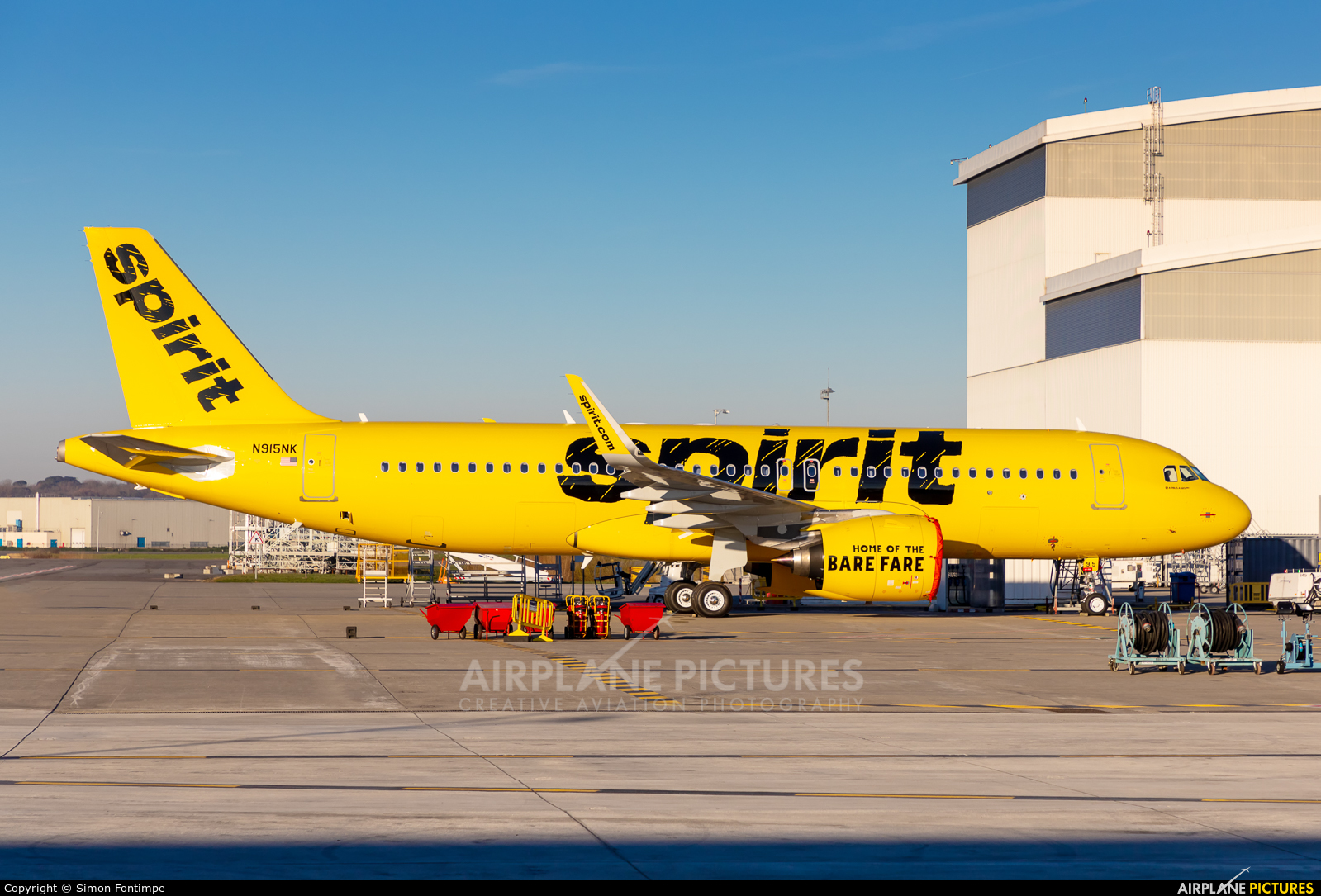 Spirit Airlines N915NK aircraft at Toulouse - Blagnac