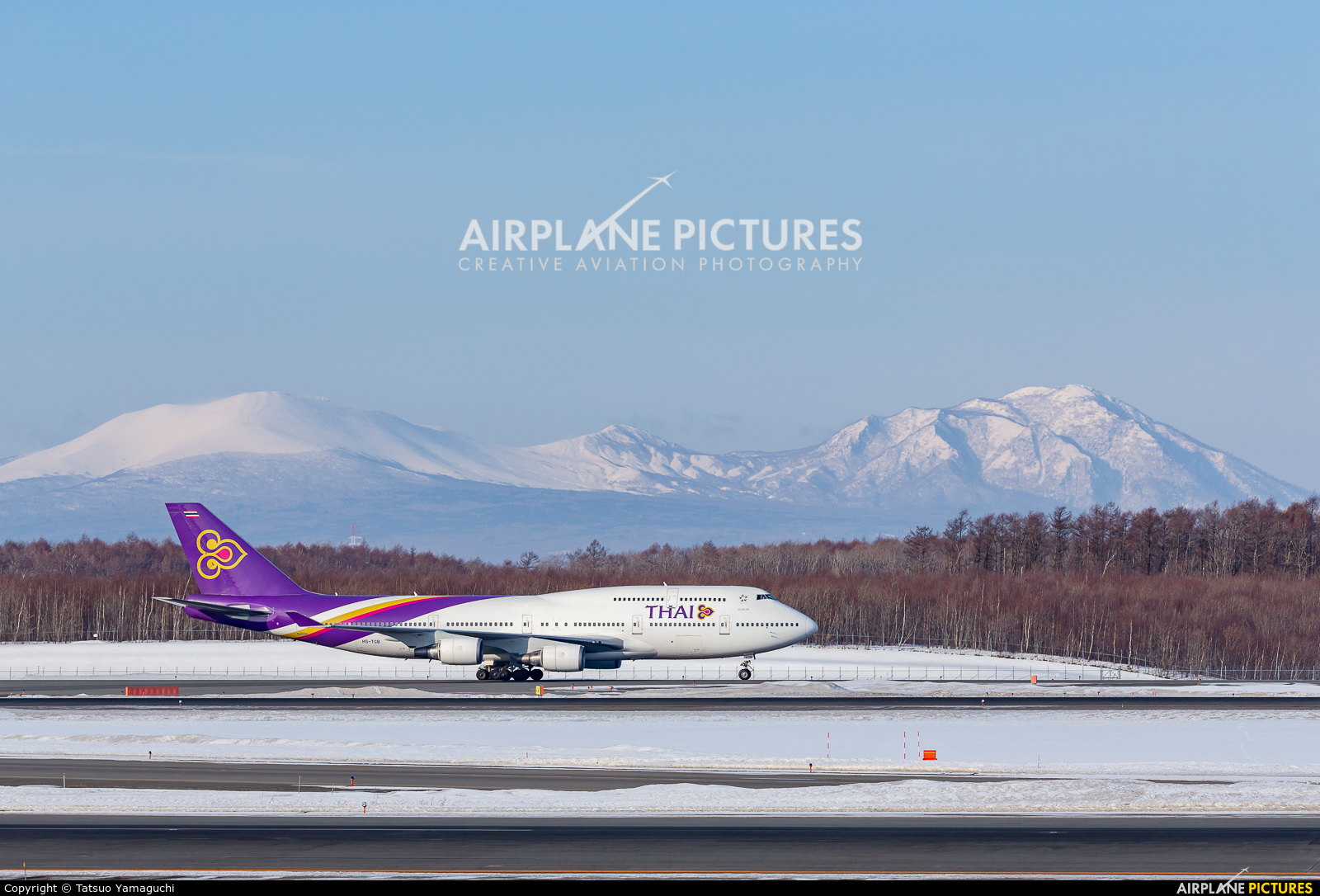 Thai Airways HS-TGB aircraft at New Chitose