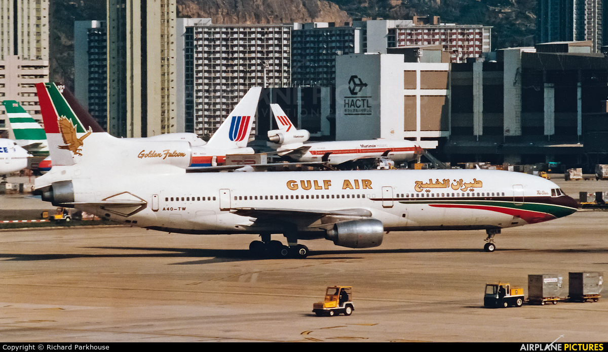 Gulf Air A40-TW aircraft at HKG - Kai Tak Intl CLOSED