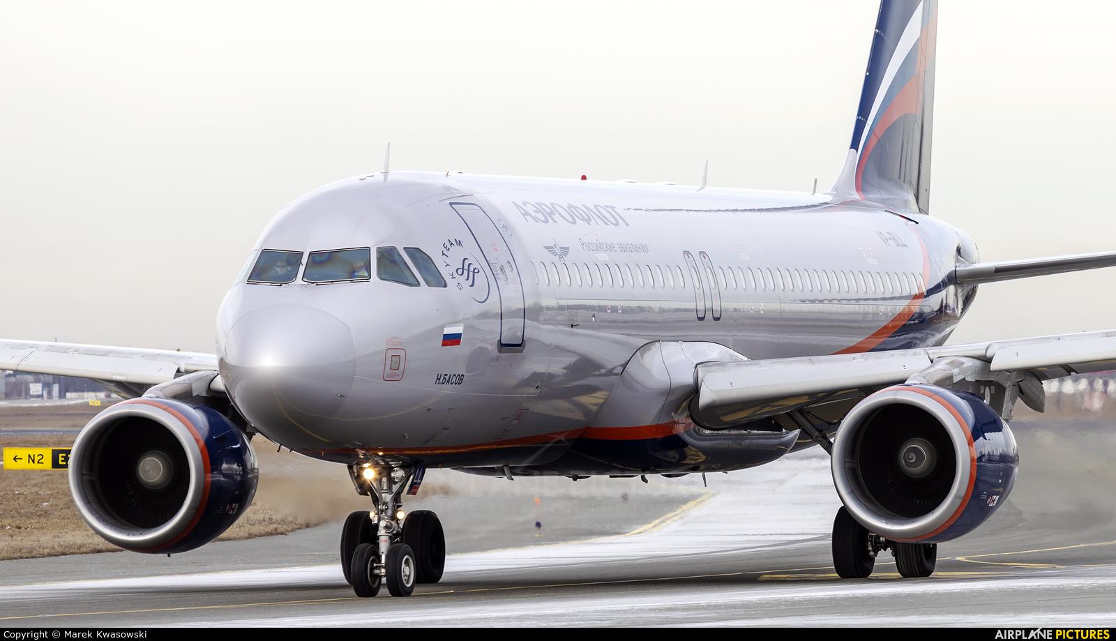 Aeroflot VP-BLL aircraft at Warsaw - Frederic Chopin