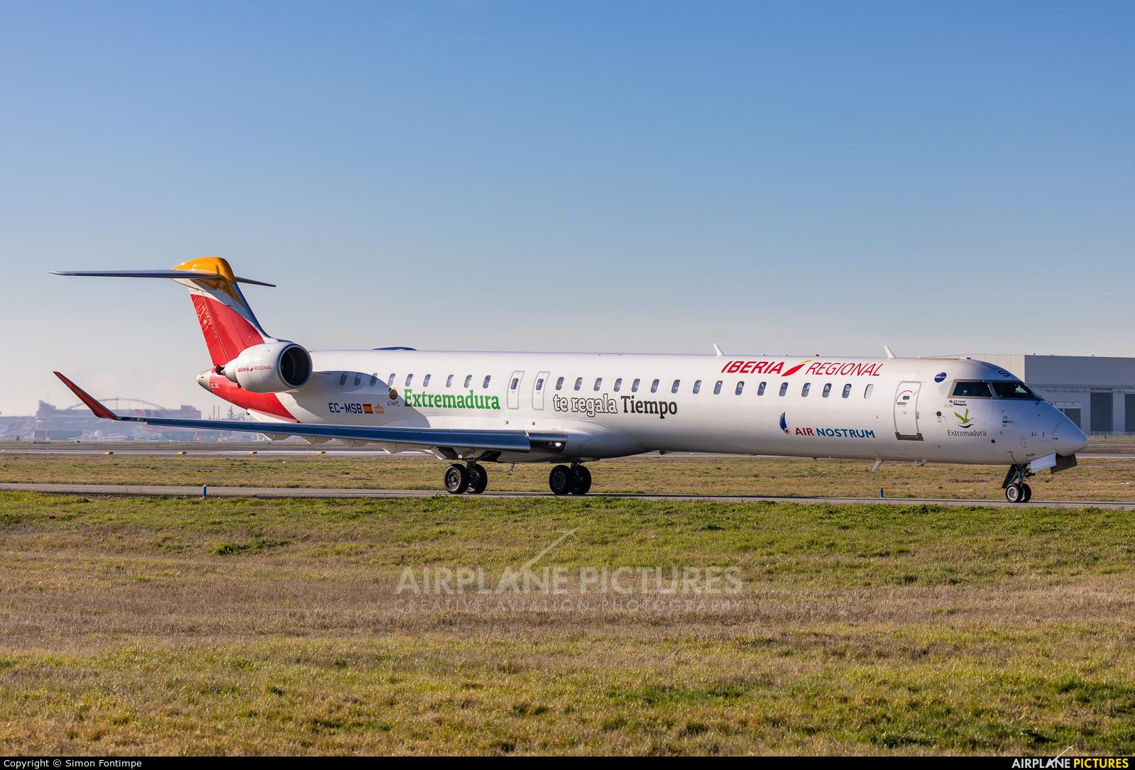 Air Nostrum - Iberia Regional EC-MSB aircraft at Toulouse - Blagnac