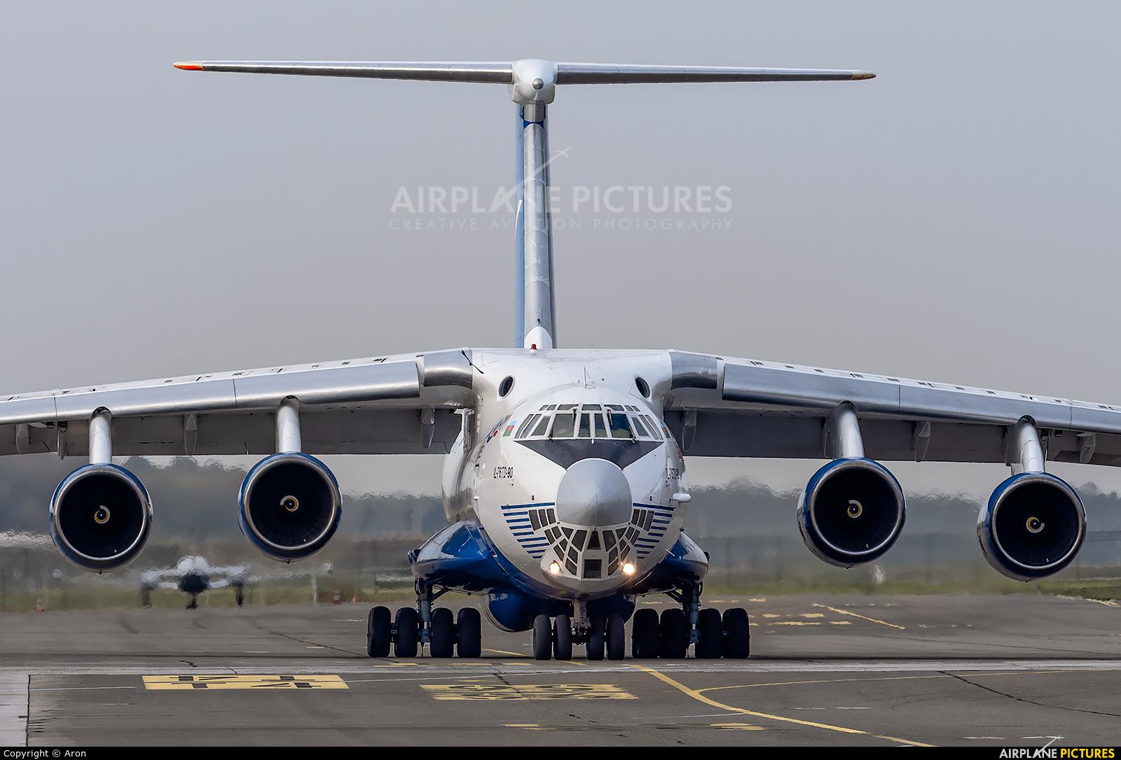 Silk Way Airlines 4K-AZ100 aircraft at Eindhoven