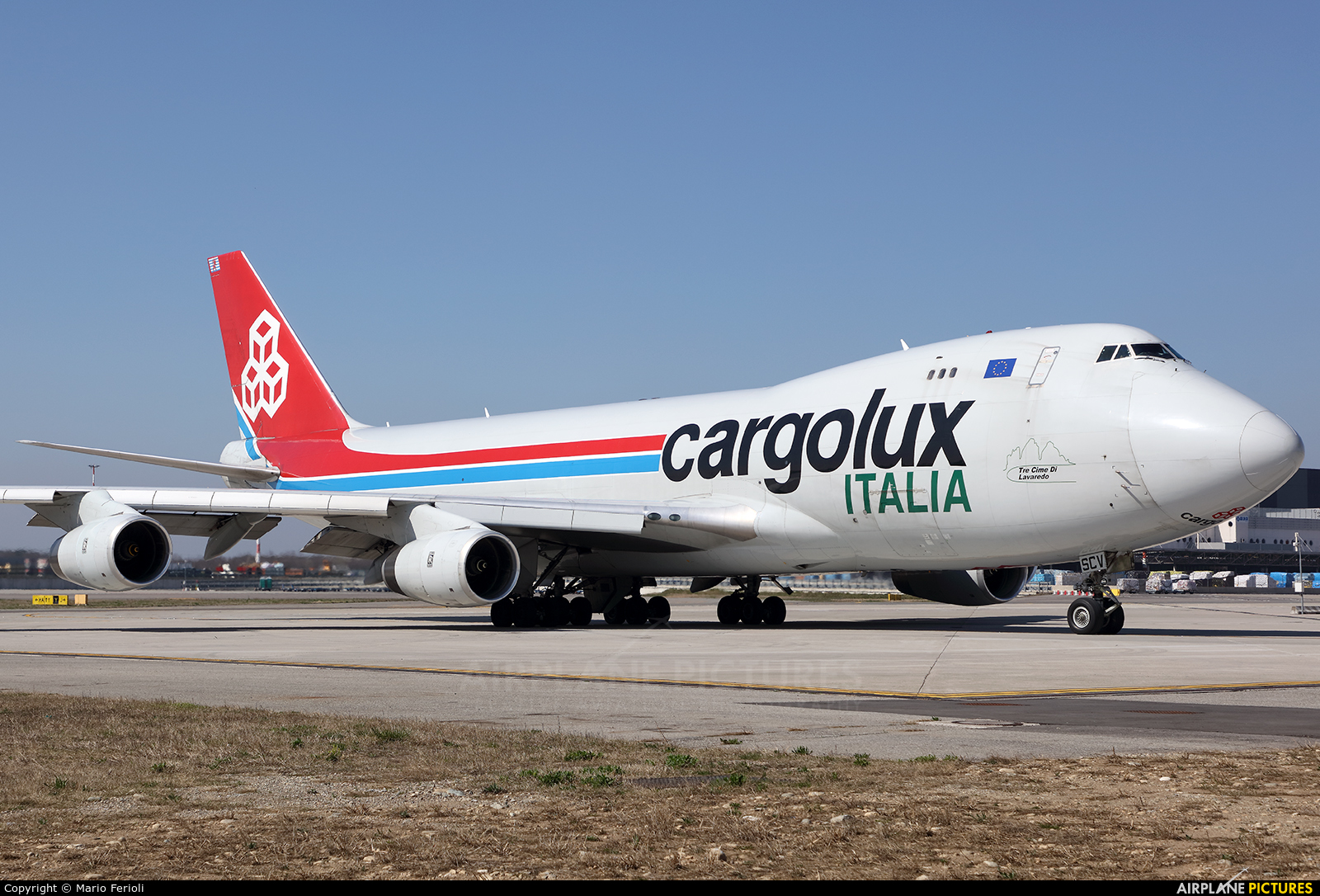 Cargolux LX-SCV aircraft at Milan - Malpensa