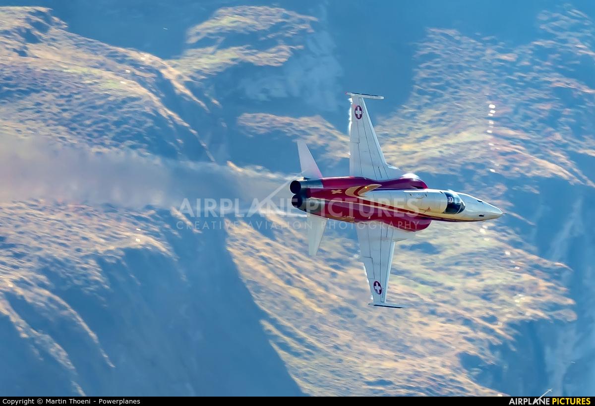Switzerland - Air Force:  Patrouille de Suisse J-3090 aircraft at Axalp - Ebenfluh Range