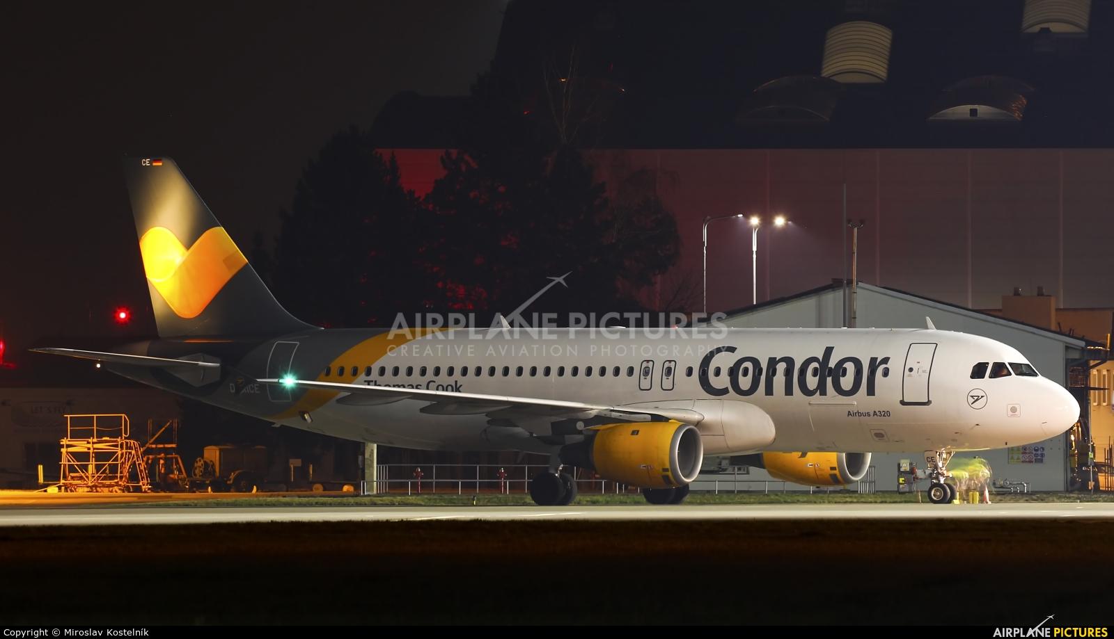 Condor D-AICE aircraft at Ostrava Mošnov