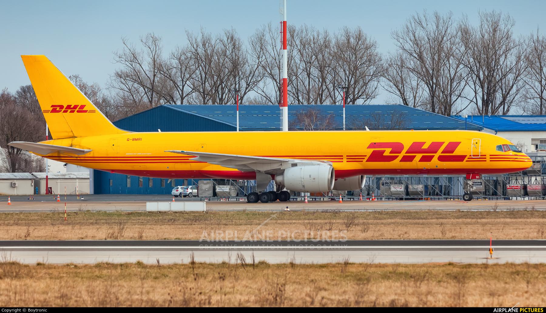 DHL Cargo G-BMRI aircraft at Zagreb