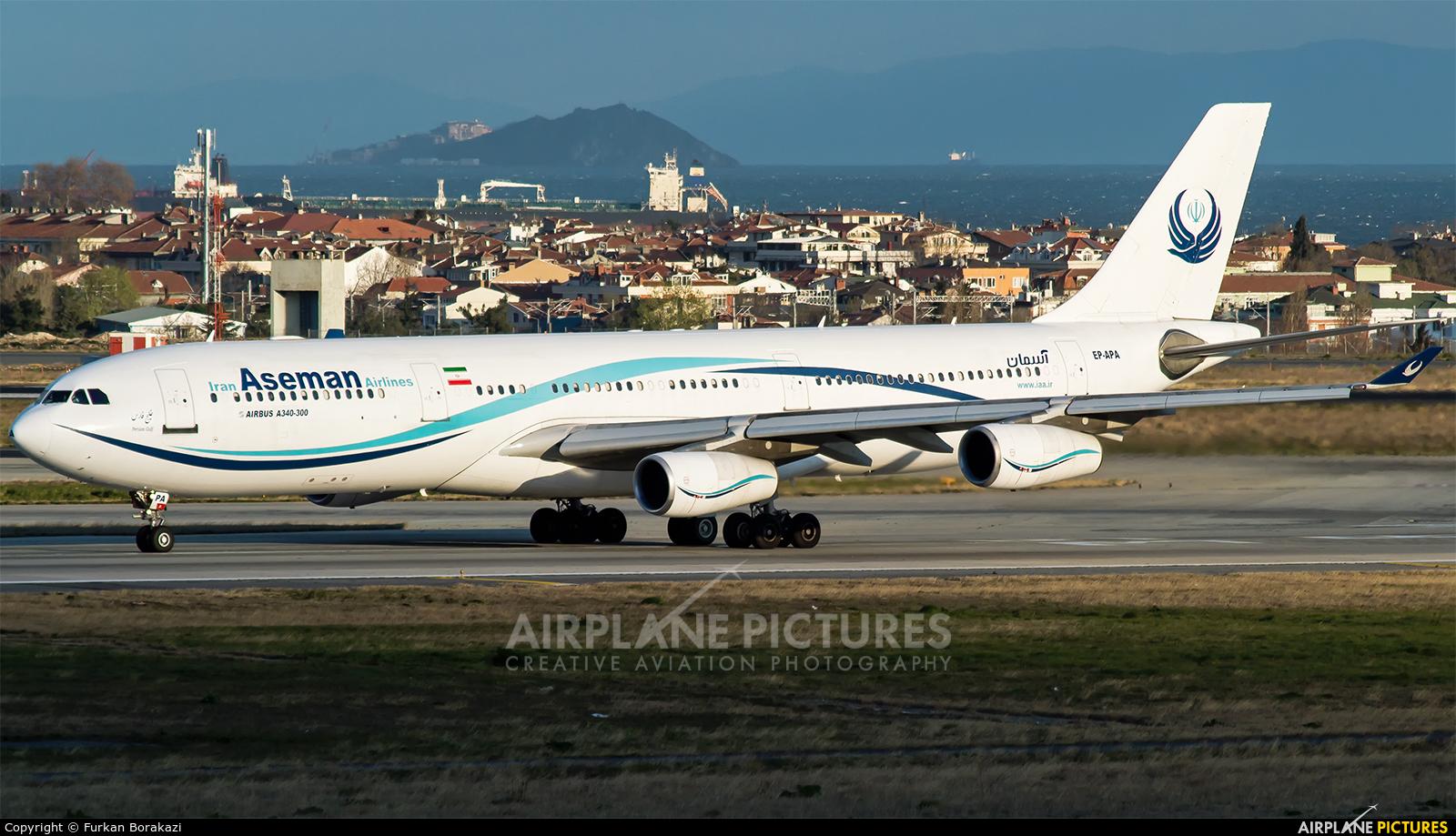 Iran Aseman EP-APA aircraft at Istanbul - Ataturk